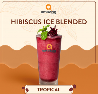 Hibiscus ice blended